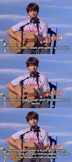 Demetri Martin on crafting w/ glitter.