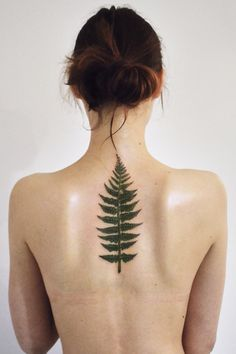 leaf || back tattoo