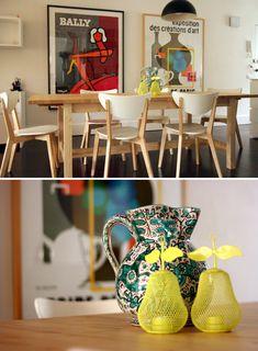 Olivia Tipler of Mozi - The Design Files Scandinavian Dining Table, Scandinavian Design, Ikea Dining Chair, Dining Room, Swivel Rocker Recliner Chair, Cheap Chairs, Melbourne House, Dark Wood Floors, The Design Files