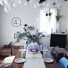 My Desk,賃貸インテリア,シンプルインテリア,賃貸,Numero74,IKEA,キッズスペース,観葉植物,誕生日ケーキ,誕生日飾り付け,誕生日 tsuchi_aの部屋 Table Settings, Numero74, Table Decorations, Birthday, Party, Wedding, Furniture, Home Decor, Events