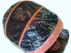 Custom Mossy Oak Camo Breakup with Orange & Chocolate MInky