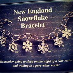 New England Snowflake bracelet. #jewelry WWW.portlandmagazine.com