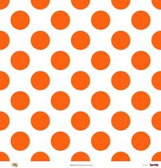 Orange Polka Dots | Megadots : Orange On White Large Polka ...