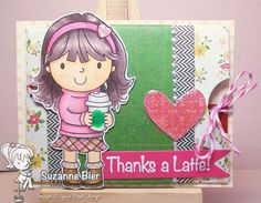 "Gift card holder - features ""Ellie Loves Lattes"" by Your Next Stamp, Whatnots dies by Your Next Stamp. Clear Stamps, Latte, Card Holder, Thankful, Projects, Anime, Cards, Gifts, Beer"