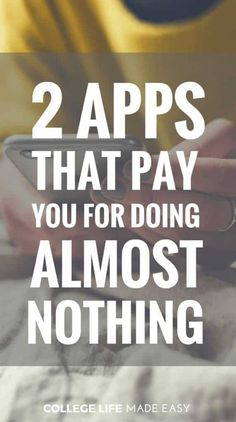 How To Make Money From Home Discover Apps That Make You Money: 2 Apps That Pay You for Doing Almost Nothing iPhone & Android Apps That Make You Money / Easy Simple Ways to Earn Extra Cash / Grocery Store Money Saving Smartphone Apps 2018 / via Make Easy Money, Make More Money, Ways To Save Money, Make Money From Home, Money Tips, Earn Extra Cash, Making Extra Cash, Extra Money, Apps That Pay You