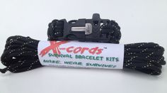 paracord 850 fire starter buckle bracelet includes 20 feet extra of paracord 850  way to go X-Cords
