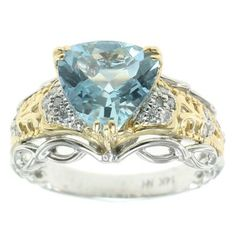 The Vault from Gems en Vogue 14K White Gold 2.21ctw Aquamarine