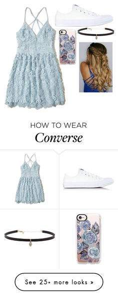 """""""Untitled #1429"""" by danifashionblog on Polyvore featuring Hollister Co., Converse, Carbon & Hyde and Casetify"""