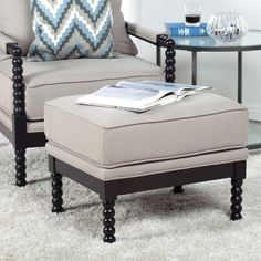 Studio Designs Home Colonade Spindle Ottoman - Our Studio Designs Home Colonade Spindle Ottoman is the perfect partner to the Colonade Spindle Chair - or any chair that needs a little something extra....