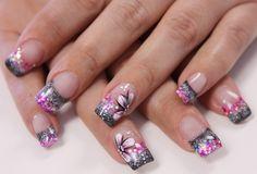 glitter nail designs - Google Search