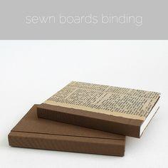 sewn boards binding by Kaija Rantakari / paperiaarre.com