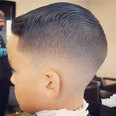 Our is this slick fade from Trendy Boys Haircuts, Boy Haircuts Short, Barber Haircuts, Toddler Boy Haircuts, Baby Boy Hairstyles, Baby Boy Haircuts, Hairstyles Haircuts, Haircuts For Men, Wedding Hairstyles