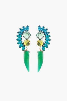 Dannijo Green Bertie Earrings