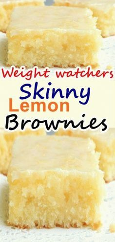 you love lemon bars or lemon brownies ? this lemon lemon brownies recipe is the best ever, come with only 3 weight watchers points you love lemon bars or lemon brownies ? this lemon lemon brownies recipe is the best ever, come with on Weight Watchers Brownies, Weight Watcher Desserts, Plats Weight Watchers, Weight Watchers Diet, Weight Watchers Cupcakes, Weight Watcher Cookies, Weigh Watchers, Ww Desserts, Healthy Desserts