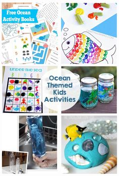 Ocean Themed Kids Activities - Printables, games, and more! Perfect for summer fun! These activities are perfect for keeping kids busy and entertained!