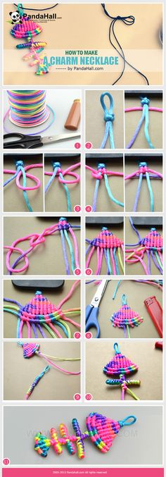 In this tutorial, the subject is about how to make a charm necklace out of the 2mm Nylon thread. The charm necklace is in a cute fishbone frame together with another string strand simply, attractive, shinning and exquisite.