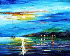 Moon Imagination PALETTE KNIFE Seascape #art #painting @EtsyMktgTool http://etsy.me/2aXTpjp