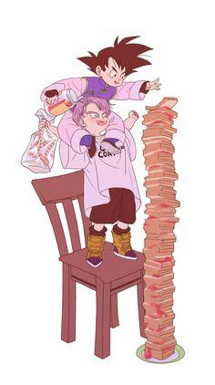 582 Likes, 5 Comments - The Best ⒹⒷⓏ Dragon Ball Z, Goten E Trunks, Manga Anime, Anime Art, Otaku, Dbz Characters, Z Arts, Cute Friends, Character Design