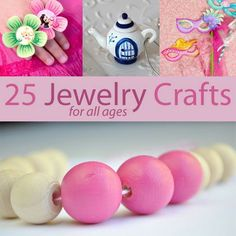 Can you have too many sparkly things? I think not!  25 Jewelry Crafts for Mommies and Daughters