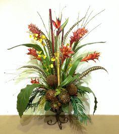 Tropical arrangement design by Arcadia Floral & Home Decor