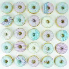 • Mermaid Mini Donuts • ✨ Orders mailto:juli.cantarella@gmail.com #donuts #minidonuts #pastelcolors…