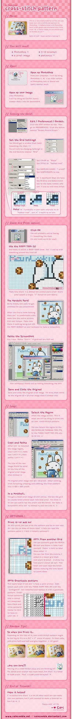 How to make your own cross-stitch pattern from any image!