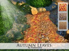 The Sims Resource: Autumn Leaves by Pralinesims • Sims 4 Downloads