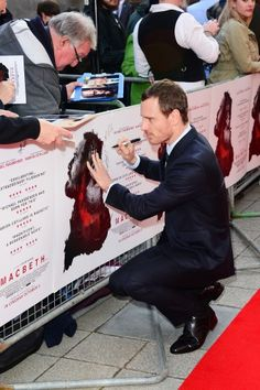 Michael Fassbender attends the UK Premier of 'Macbeth' at the Edinburgh Festival Theatre