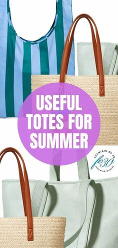 Everyone needs a tote bag or good carryall for travel, even if that travel is only to a local park or beach! Here are some of the most useful totes for summer. #fashion #over40 #handbags #summerfashion #totes Cool Mom Picks, Stylish Handbags, Over 50 Womens Fashion, Classic Style Women, Summer Fashion Outfits, Nylon Tote, Style Blog, Totes, Fashion Accessories