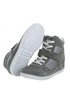 Me encanta! Miralo! Bota Sneaker tacon oculto Aeroflex Gris  de Aeroflex en Dafiti