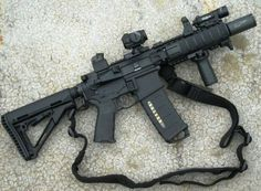 Noveske diplomat - My Quiet Hiding Place.So Loud Military Weapons, Weapons Guns, Guns And Ammo, Military Army, M4a1 Rifle, Assault Rifle, Tactical Rifles, Firearms, Shotguns