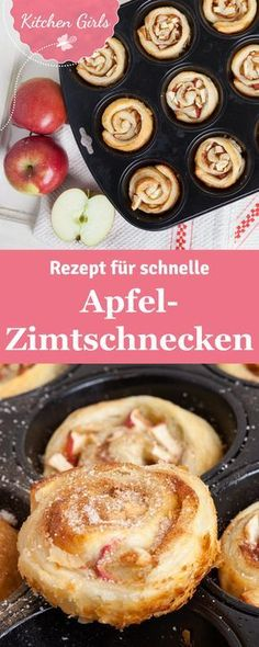 Habt ihr schon mal Apfel-Zimtschnecken in der Muffinform gemacht? Solltet ihr un… Have you ever made apple cinnamon rolls in muffin form? Should you absolutely try! We have the recipe for you. Apple Cinnamon Rolls, Cinnamon Apples, Cinnamon Desserts, Baking Recipes, Cake Recipes, Dessert Recipes, Snacks Recipes, Grilling Recipes, Food Cakes