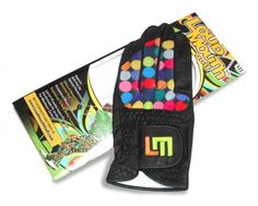 Mens & Womens Golfing Gloves by Loudmouth Golf - Disco Balls Black.  Buy it @ ReadyGolf.com