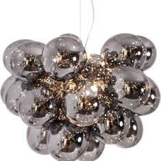 Gross Grande is a larger model of By Rydén's ceiling lamp Gross. 32 delicate glass spheres and 8 light sources gives a wonderful light. Ceiling Pendant, Ceiling Lamp, Pendant Lighting, Ceiling Lights, Kristiansund, Royal Christmas, Royal Design, Spotlights, Glass Ball