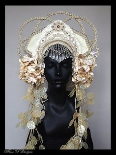 a Pirate Queen must have her headdress for the Annual Pirate Ball... this one I call 'Hint of Orient'