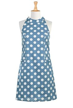 I <3 this Polka dot mod shift dress from eShakti