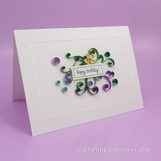 Paper Zen: Quilling birthday cards 3