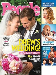 Drew Barrymore's wedding is featured on the cover of People Magazine - June 16, 2012