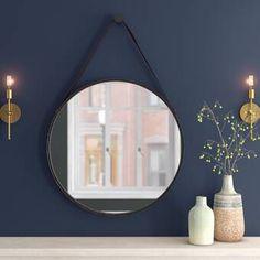 Polaris Large Framed Wall Mirror & Reviews | Joss & Main Joss And Main Furniture, Mirror Room, Wall Mirror, Rustic Bathroom Designs, Bathroom Ideas, Dining Table Legs, Modern Aesthetics, Decorative Hooks, Dining Room Walls
