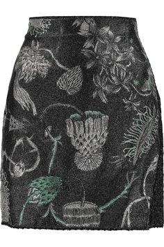 MISSONI Metallic Jacquard And Crochet-Knit Mini Skirt. #missoni #cloth #skirt