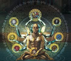 The divine union of male and female which unlocks the power of creation and infinite potential. In their hands they hold the symbols of the elements. Above their head, together they hold the mandala of the united elements. All come together to manifest the body of Venus. by Art of War Studios on DeviantArt