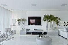 O porcelanato branco polido é um piso muito fácil de limpar