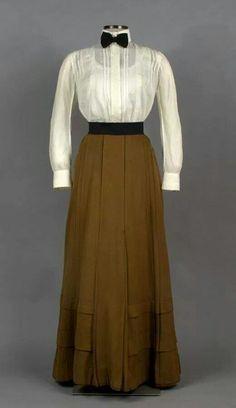 skirt approximately 1900 Shirtwaist approximately 1910.