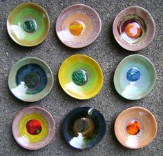 Marble Ceramic Dish bowl colorful catchall jewelry ring