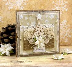 Klaudia/Kszp: Kartka na chrzciny i jeszcze jedna świąteczna