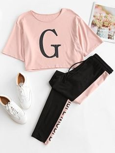 # Casual Outfits with flats for teens Two Piece Outfits Cute Lazy Outfits, Sporty Outfits, Swag Outfits, Pretty Outfits, Stylish Outfits, Girls Fashion Clothes, Teen Fashion Outfits, Outfits For Teens, Girl Fashion