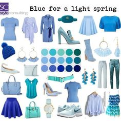 Which color should you choose? Light Spring Palette, Spring Color Palette, Spring Colors, Clear Spring, Bright Spring, Warm Spring, Fashion Colours, Colorful Fashion, Color Type