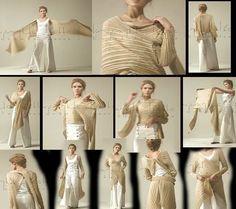 Pashmina que se pueden usar de distintas formas - muchos patrones