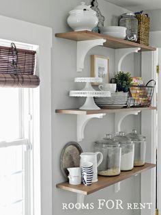 Kitchen - Gray Benjamin Moore -gray owl