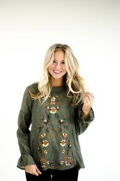 Rosewood Blouse in Olive | ROOLEE